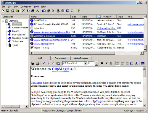 ClipMagic Windows Clipboard Manager Screenshots